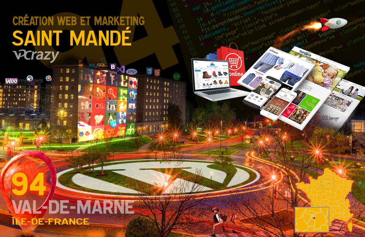 Créateur de site internet Saint-Mandé et Marketing Web