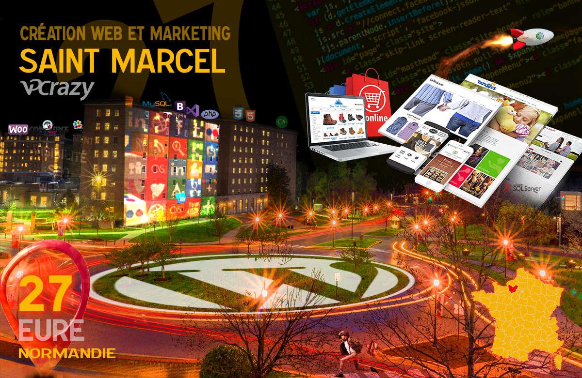 Créateur de site internet Saint-Marcel et Marketing Web