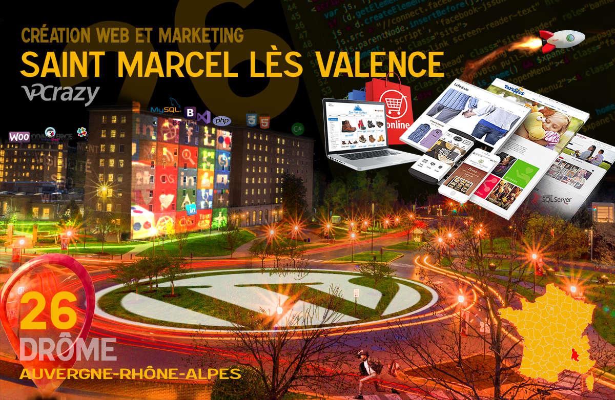 Créateur de site internet Saint-Marcel-lès-Valence et Marketing Web