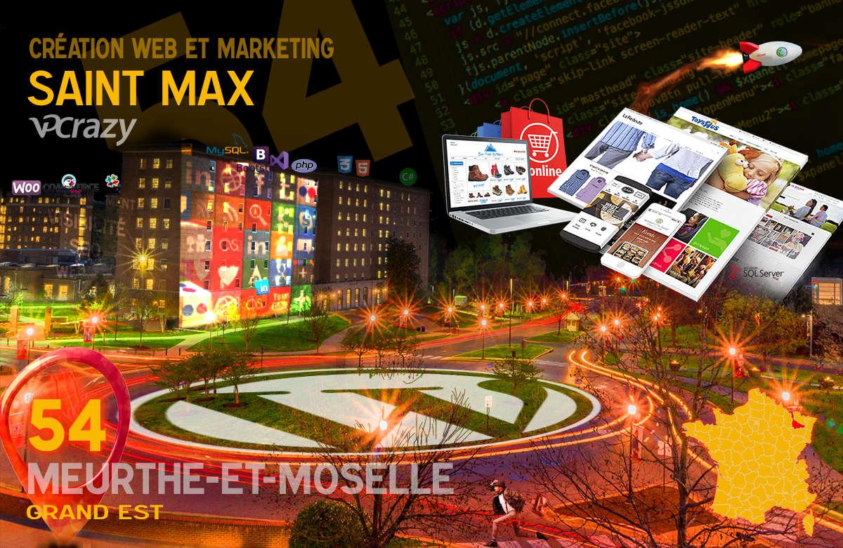 Créateur de site internet Saint-Max et Marketing Web