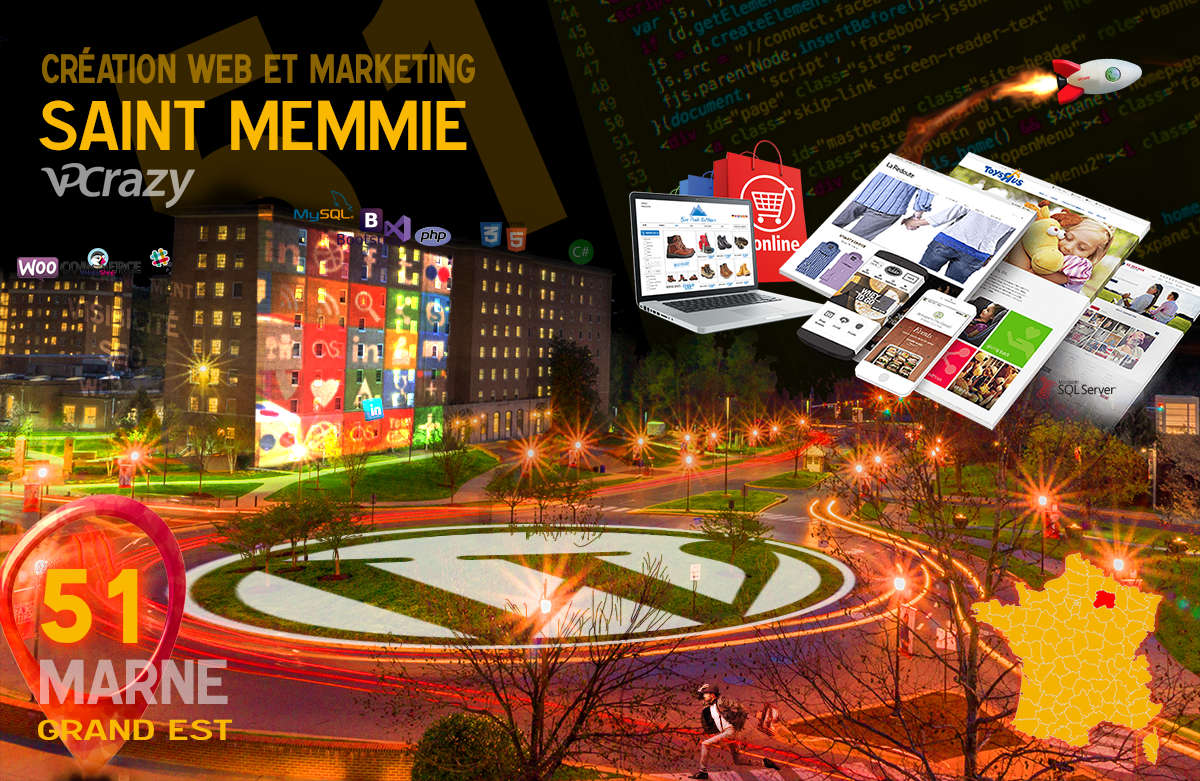 Créateur de site internet Saint-Memmie et Marketing Web