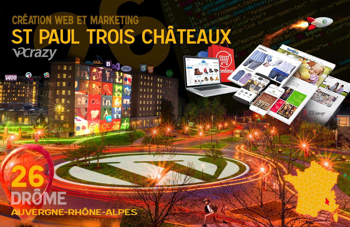 Créateur de site internet St-Paul-Trois-Châteaux et Marketing Web