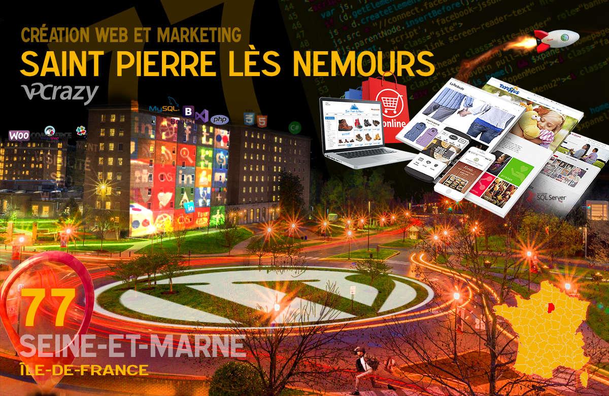 Créateur de site internet Saint-Pierre-lès-Nemours et Marketing Web