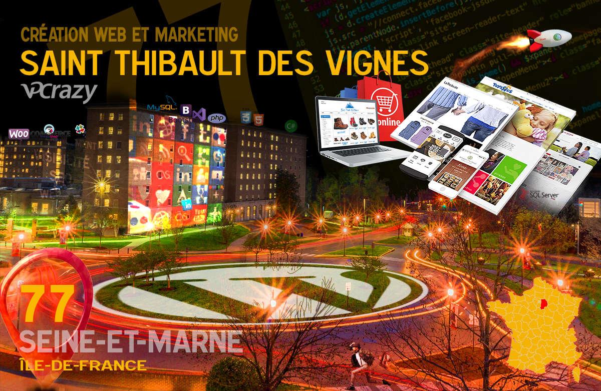 Créateur de site internet Saint-Thibault-des-Vignes et Marketing Web