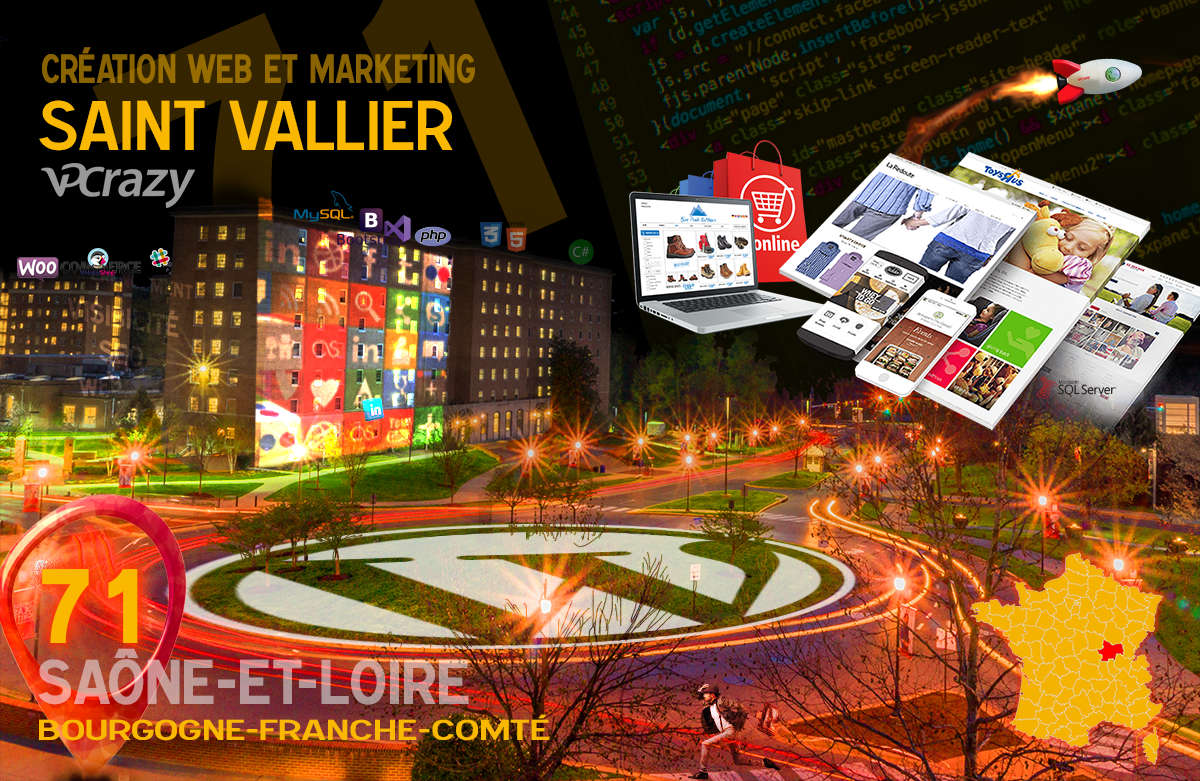 Créateur de site internet Saint-Vallier et Marketing Web