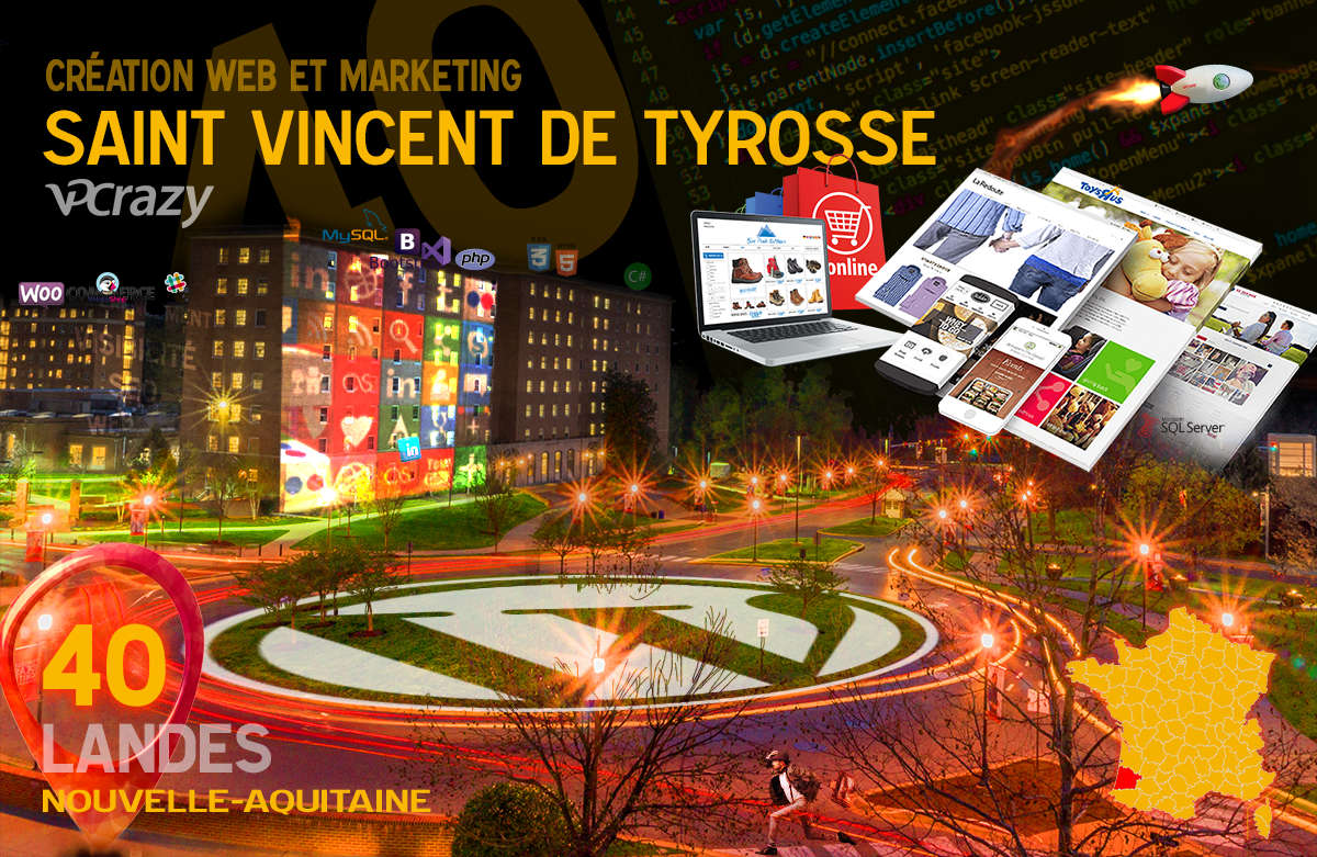 Créateur de site internet Saint-Vincent-de-Tyrosse et Marketing Web