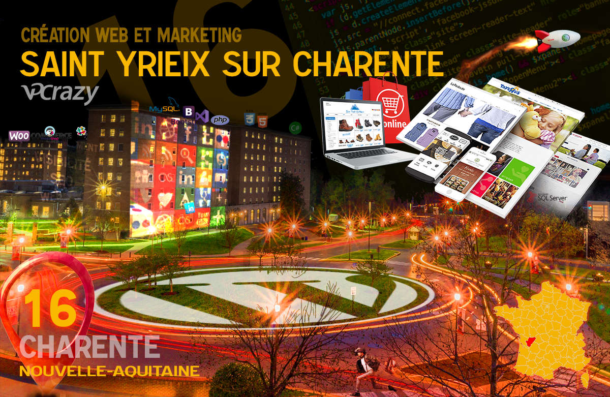 Créateur de site internet Saint-Yrieix-sur-Charente et Marketing Web