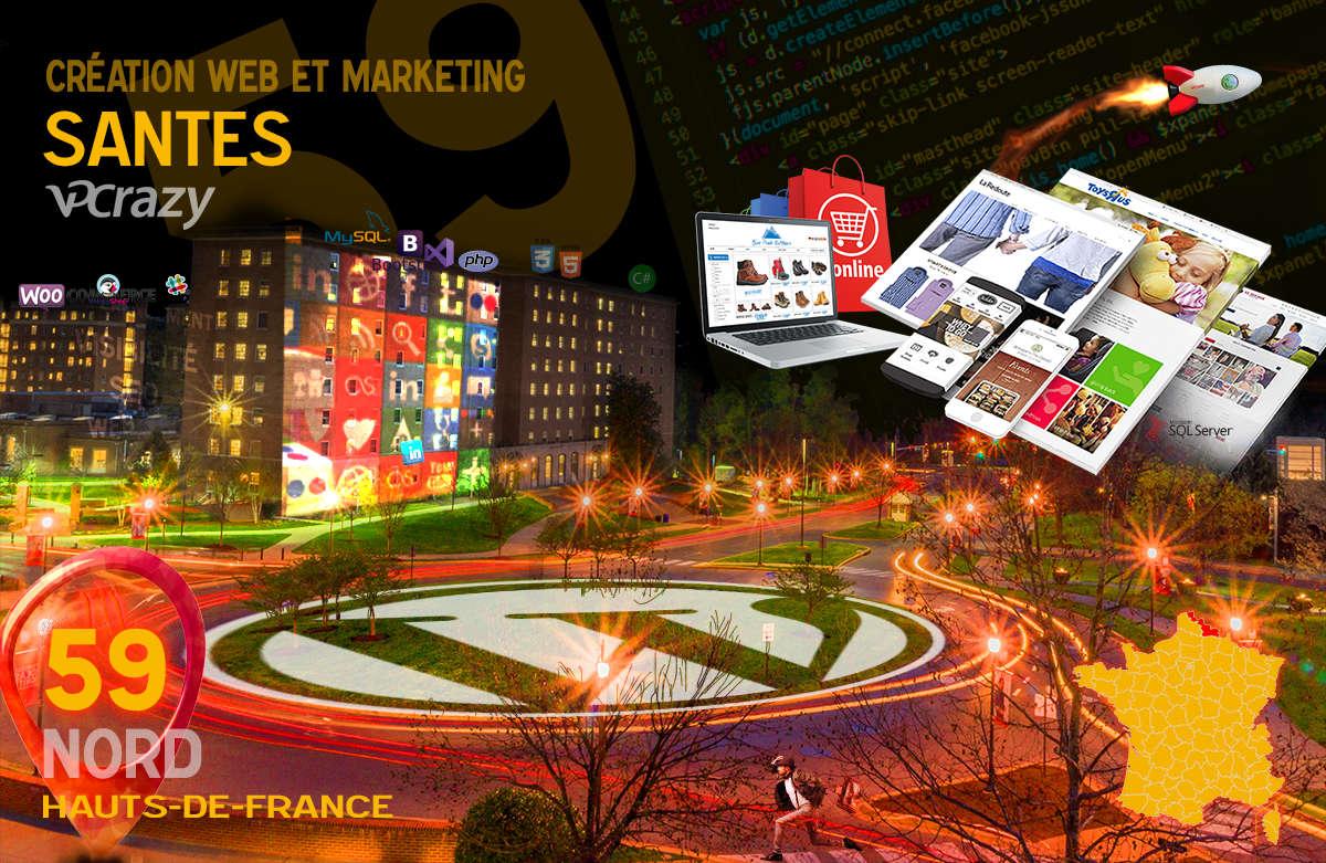 Créateur de site internet Santes et Marketing Web