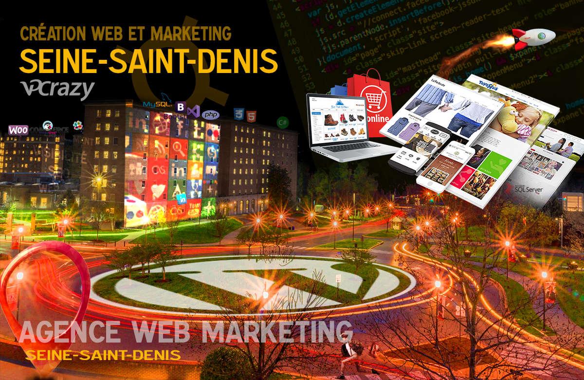 Créateur de site internet Seine-Saint-Denis et Marketing Web