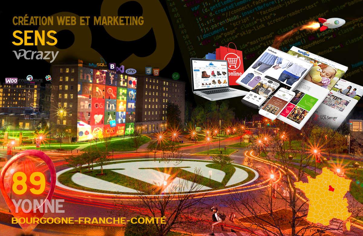Créateur de site internet Sens et Marketing Web