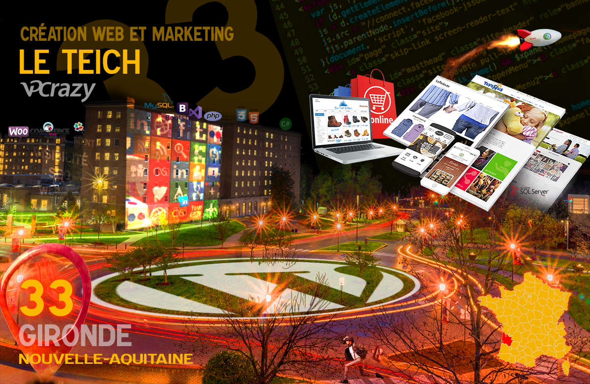 Créateur de site internet Le Teich et Marketing Web