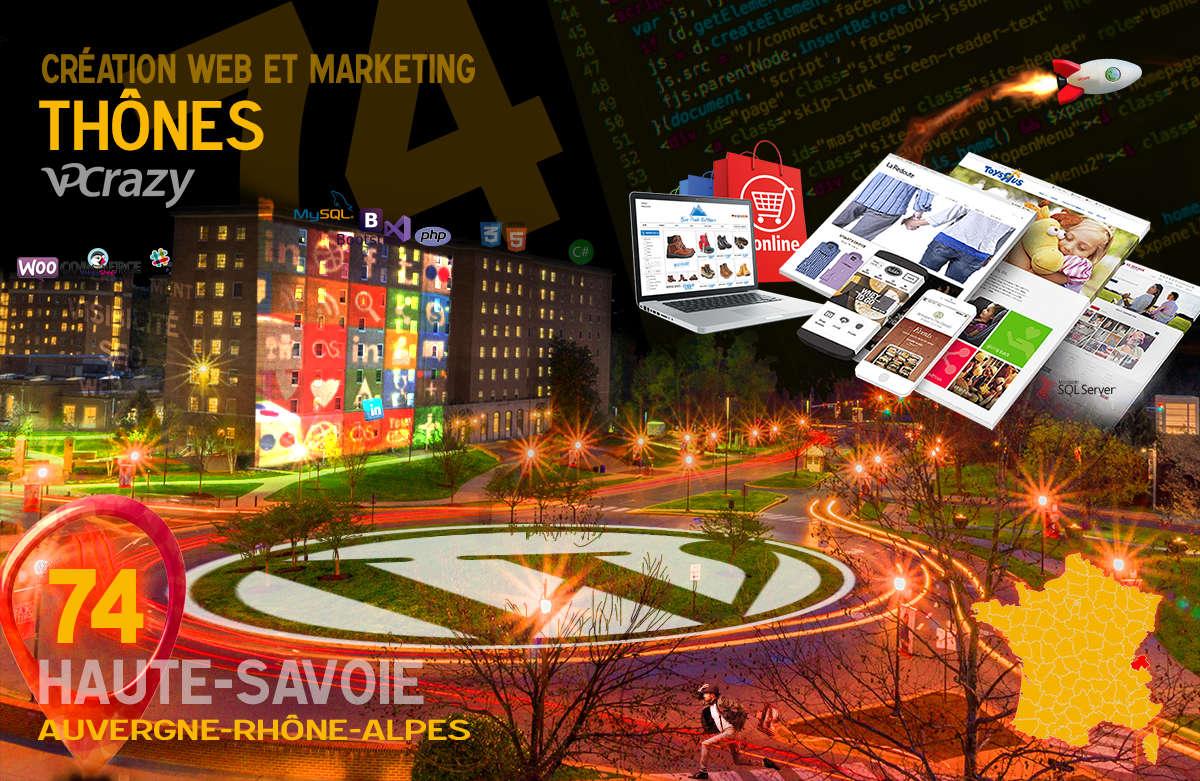 Créateur de site internet Thônes et Marketing Web