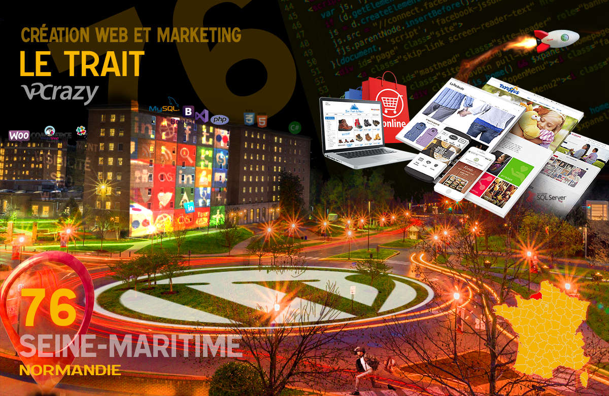 Créateur de site internet Le Trait et Marketing Web