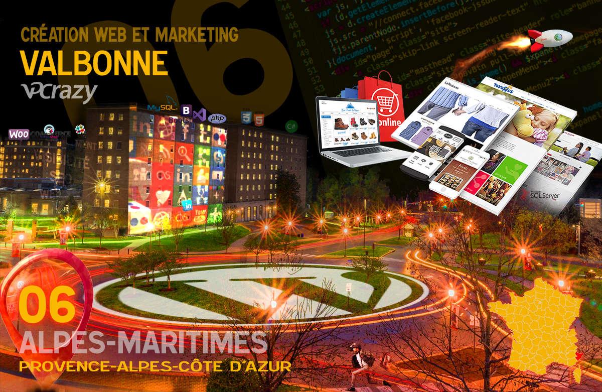 Créateur de site internet Valbonne et Marketing Web