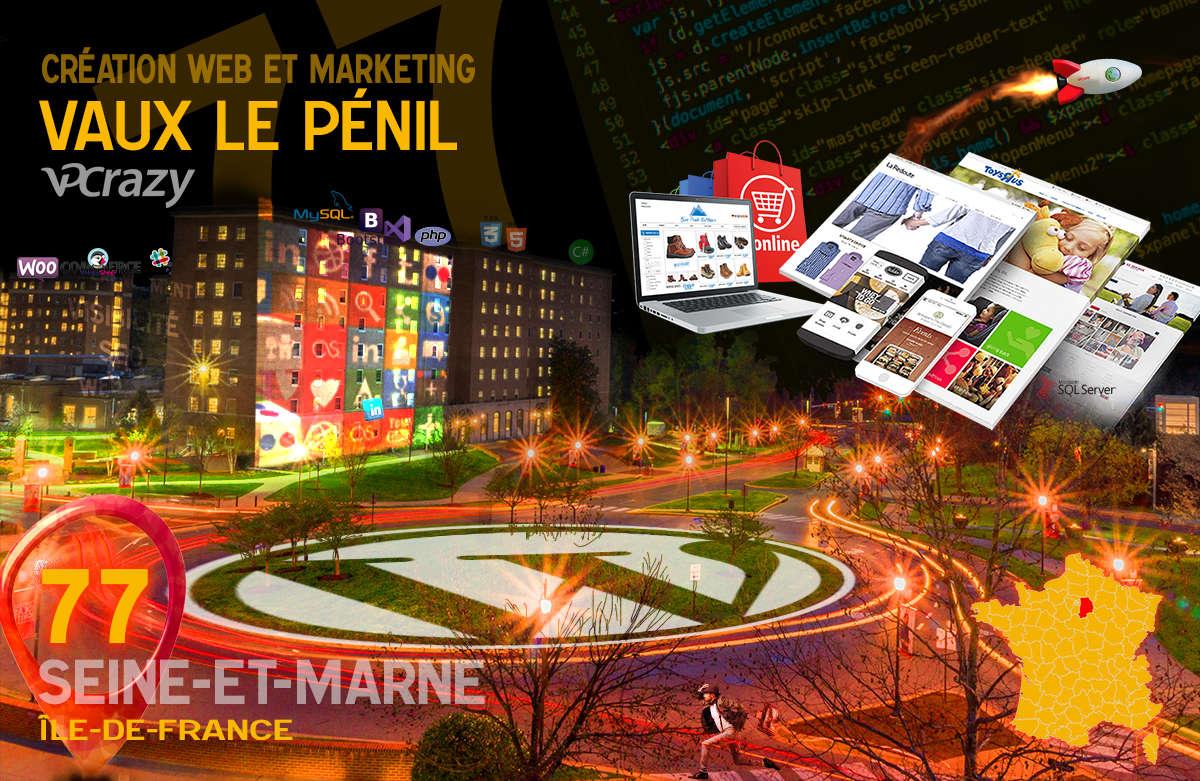 Créateur de site internet Vaux-le-Pénil et Marketing Web