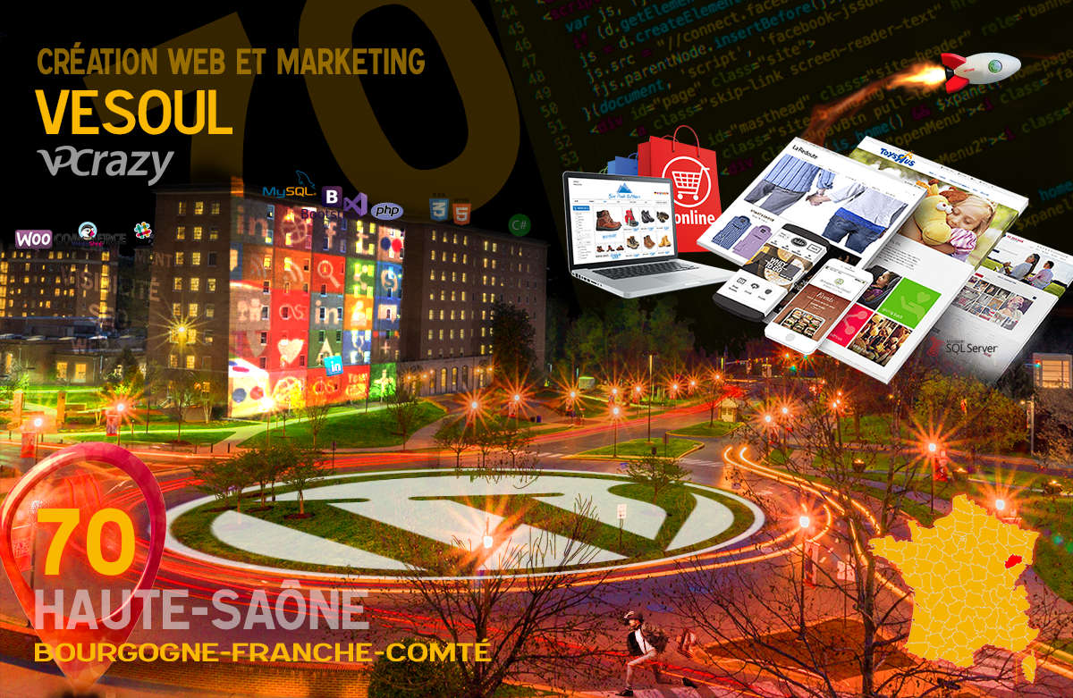 Créateur de site internet Vesoul et Marketing Web