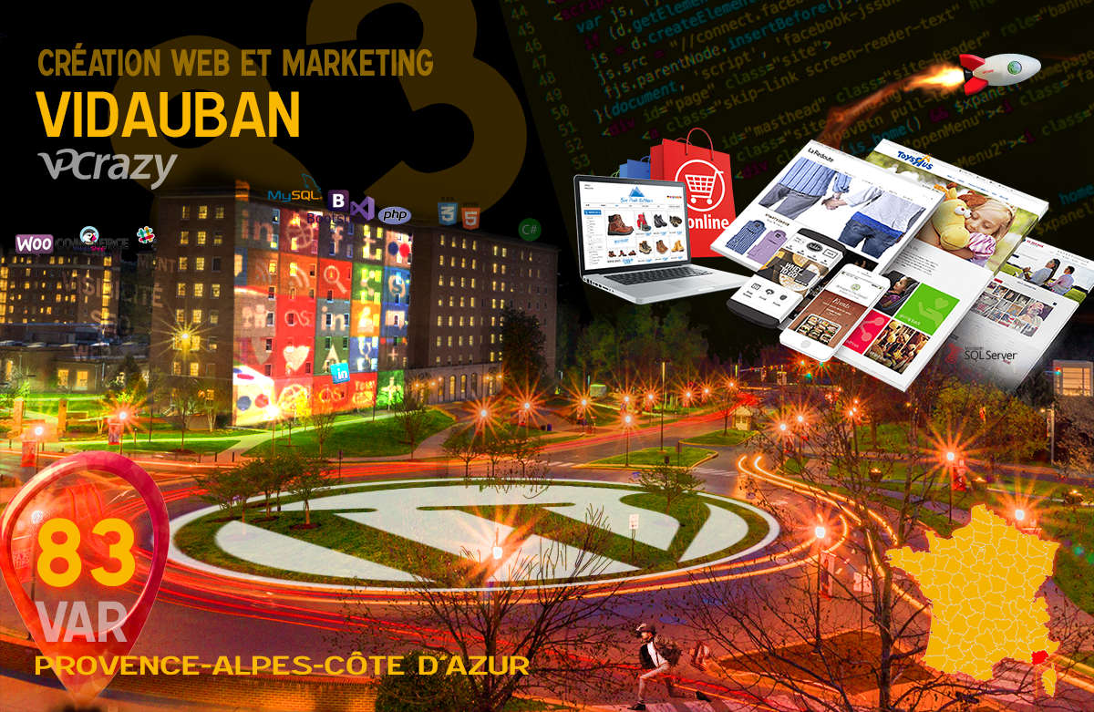 Créateur de site internet Vidauban et Marketing Web