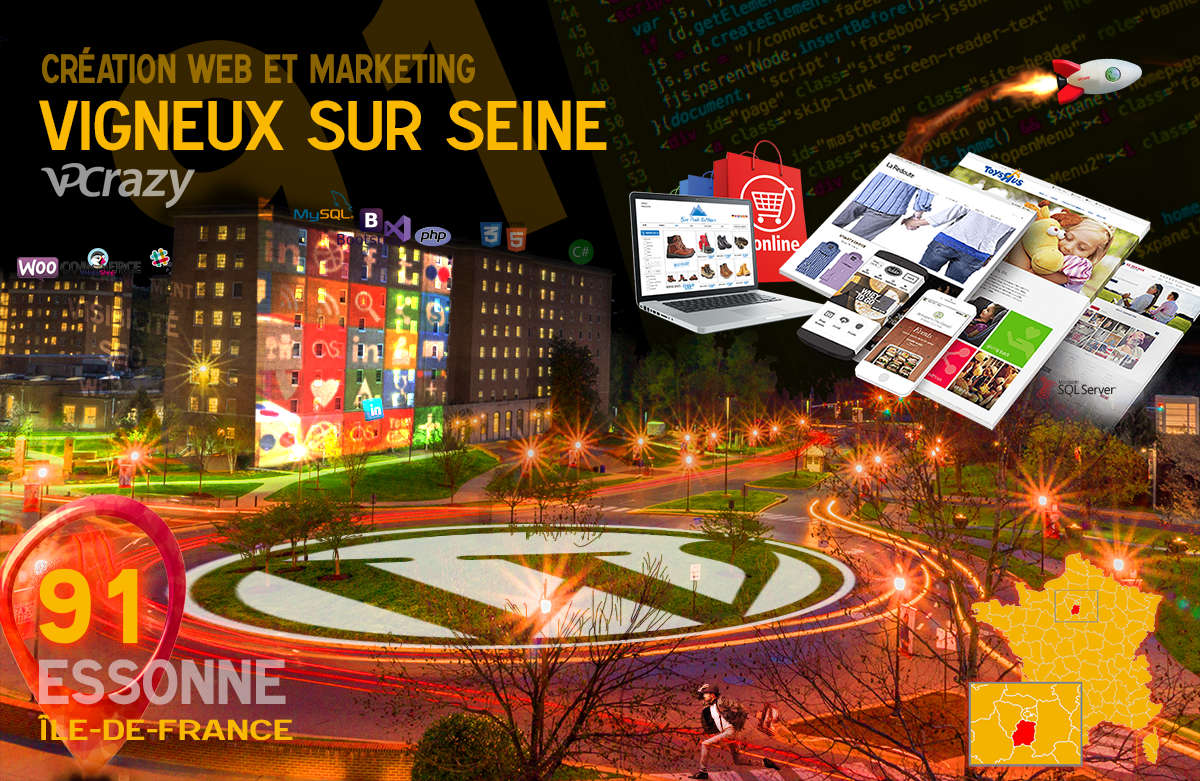 Créateur de site internet Vigneux-sur-Seine et Marketing Web