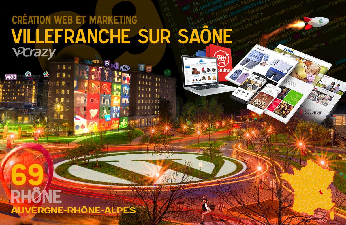 Créateur de site internet Villefranche-sur-Saône et Marketing Web