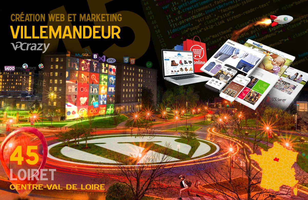 Créateur de site internet Villemandeur et Marketing Web