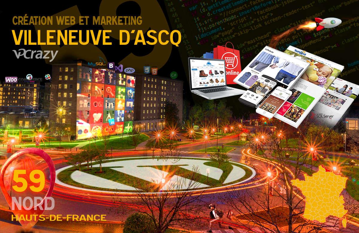 Créateur de site internet Villeneuve-d'Ascq et Marketing Web