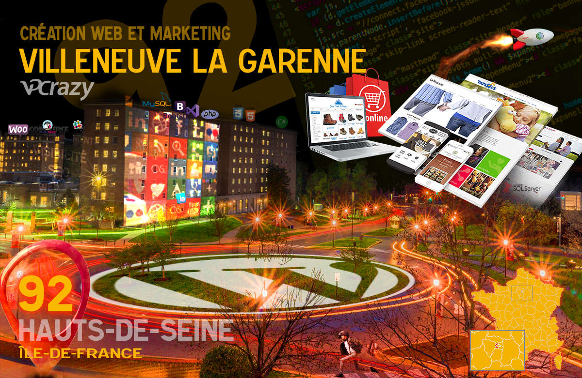 Créateur de site internet Villeneuve-la-Garenne et Marketing Web