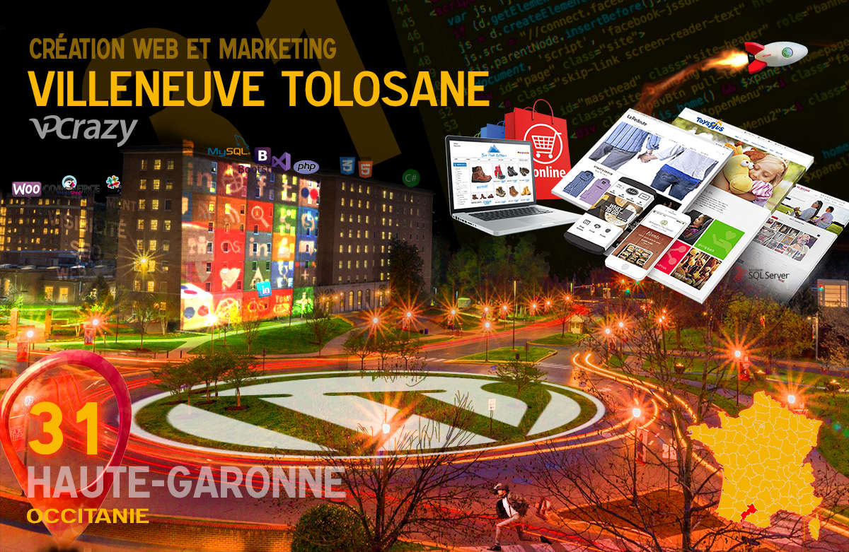 Créateur de site internet Villeneuve-Tolosane et Marketing Web