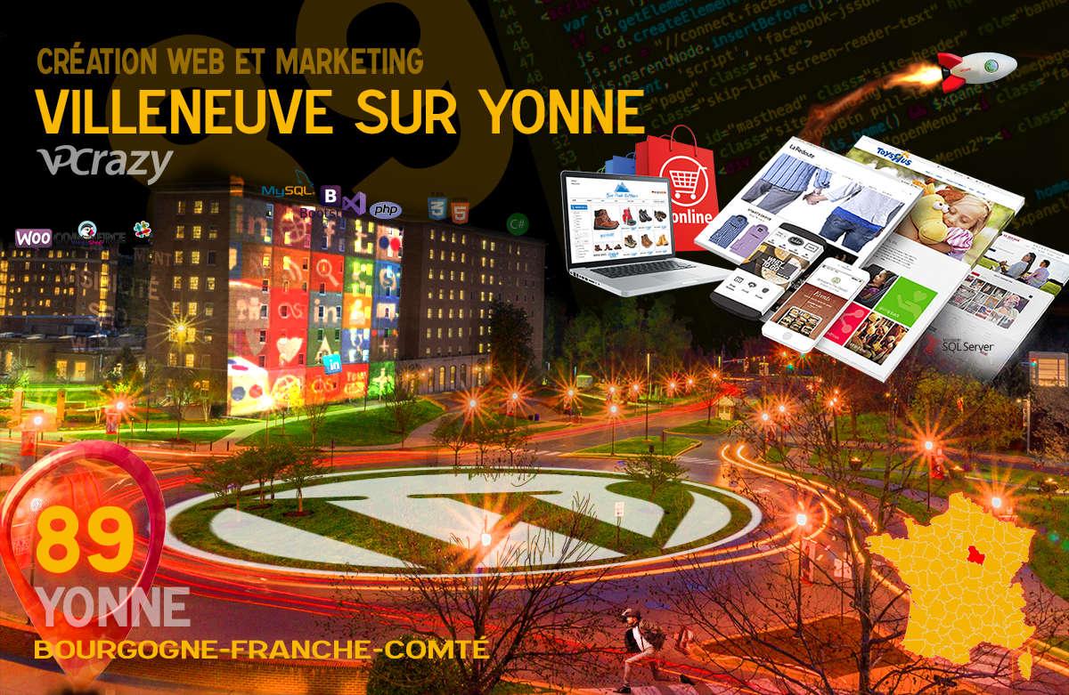 Créateur de site internet Villeneuve-sur-Yonne et Marketing Web