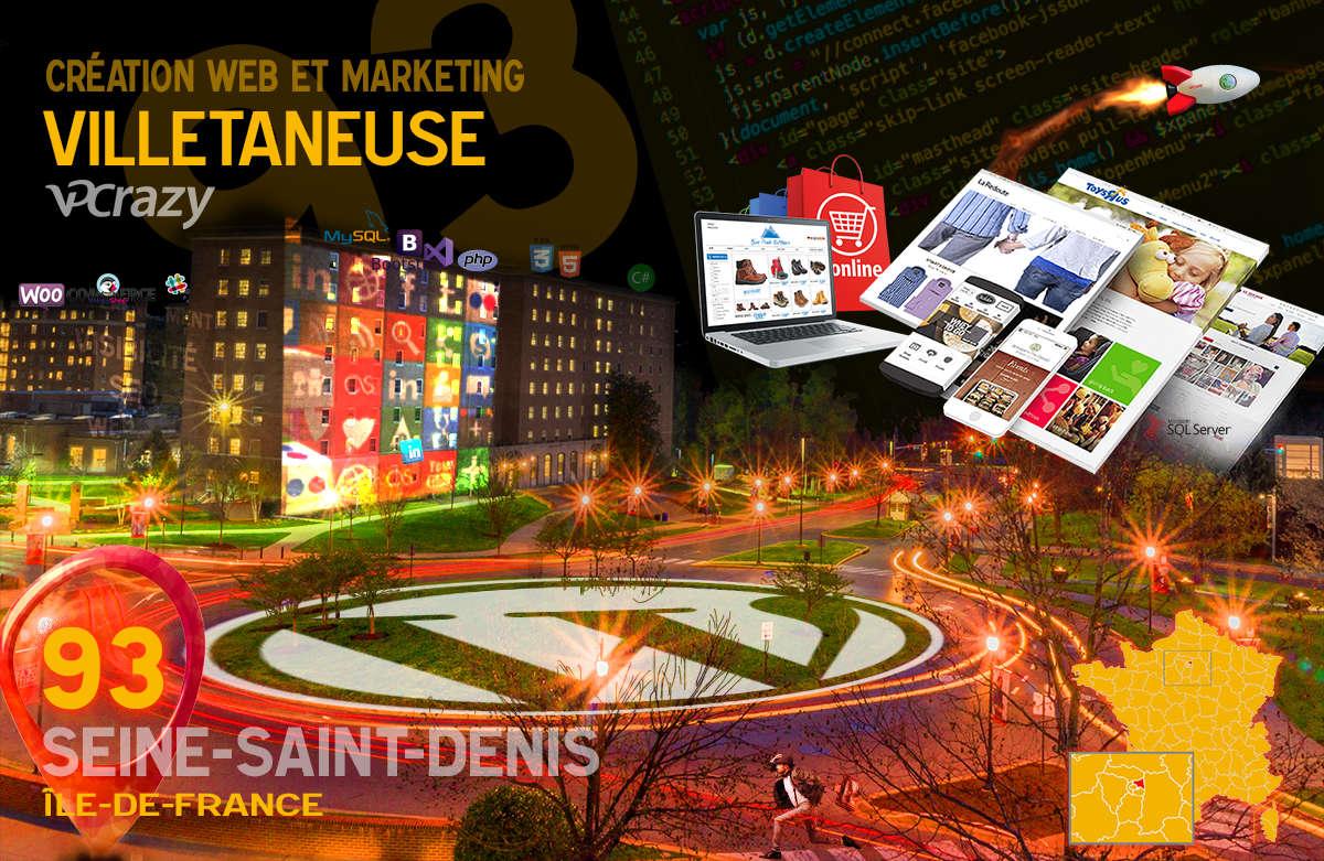 Créateur de site internet Villetaneuse et Marketing Web