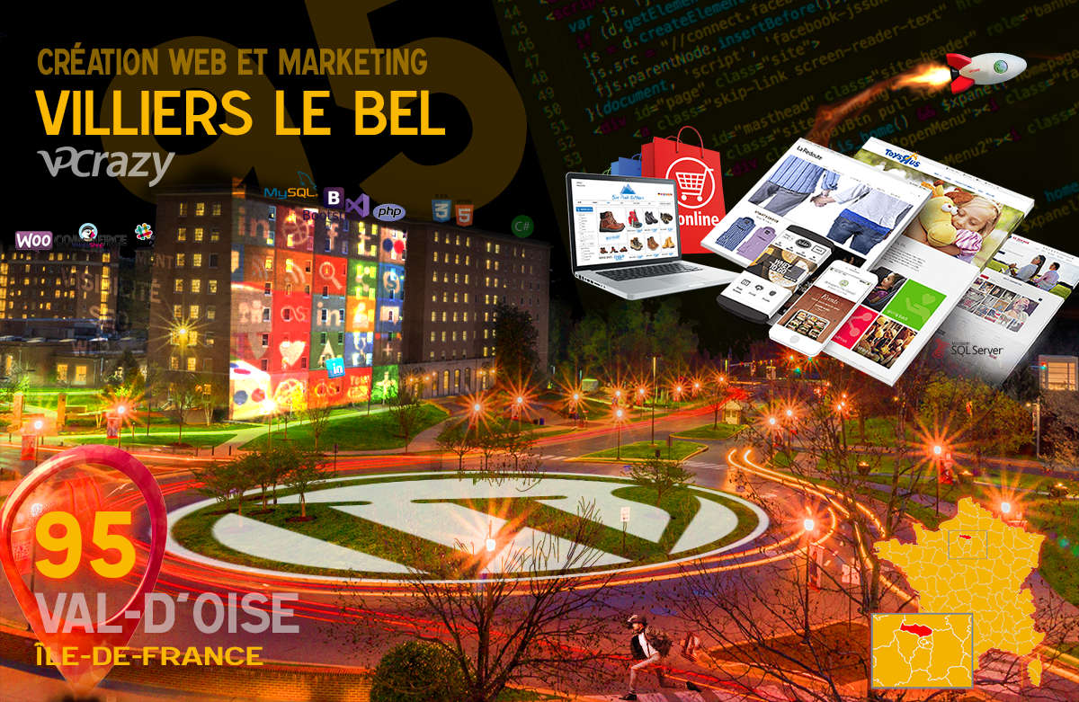 Créateur de site internet Villiers-le-Bel et Marketing Web