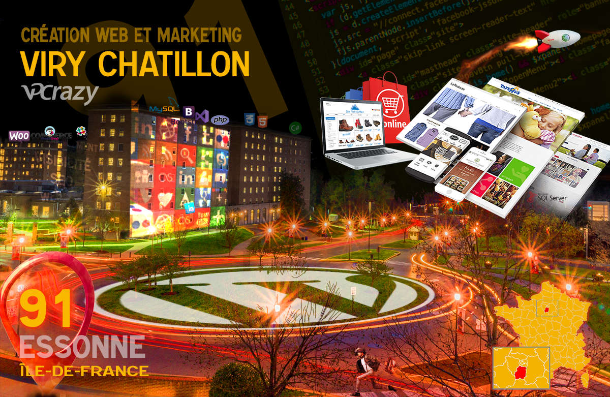 Créateur de site internet Viry-Chatillon et Marketing Web