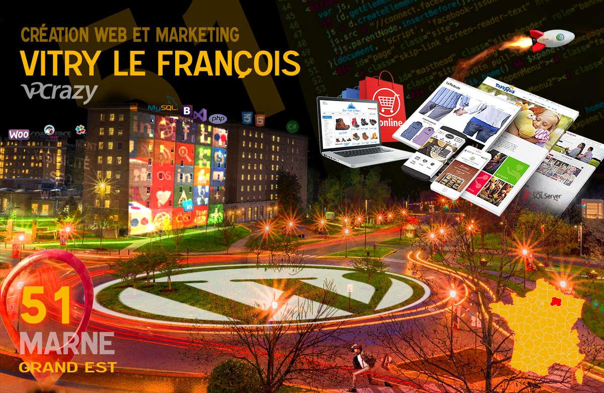 Créateur de site internet Vitry-le-François et Marketing Web