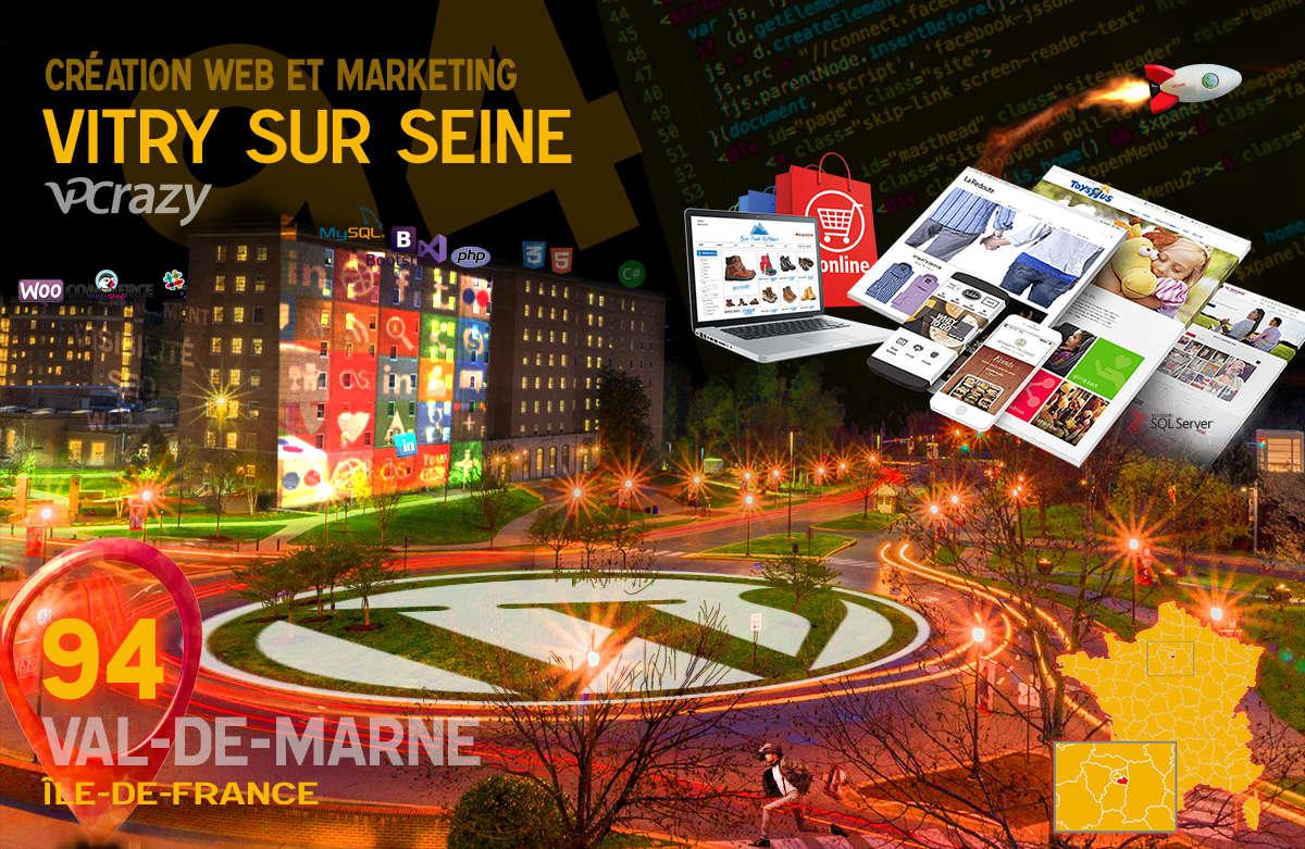 Créateur de site internet Vitry-sur-Seine et Marketing Web