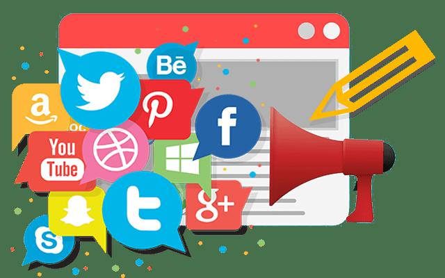 Inbound marketing depuis les médias sociaux comme Facebook, twitter ou Youtube